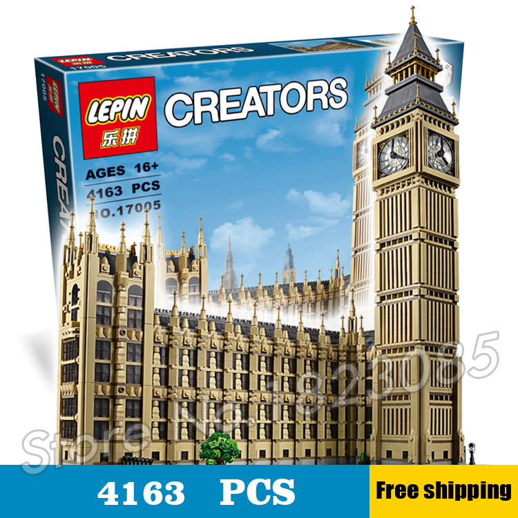 4163pcs 17005 Creator Expert Brick Big Ben Building series Kit Model Blocks Toys Office structure Compatible With Lego