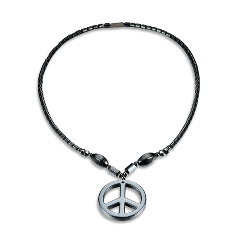 Audacious Unisex Cool Hematite Necklace With Magnetic Therapy Healing Health Jewelry Geometric Supplement The Vital Energy And Nourish Yin