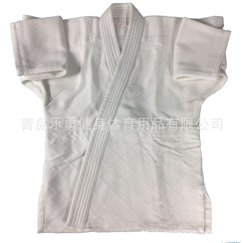 Image 3 - Pure cotton portions 450 g white blue standard training game  fighting coat pants belt portions jiujitsu judoOther Fitness