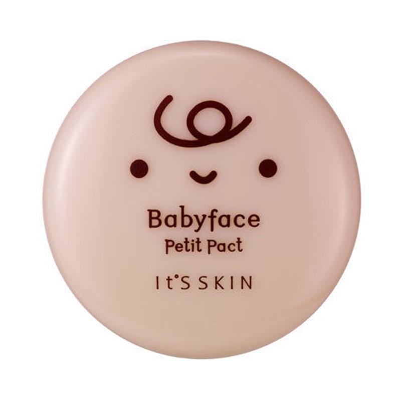 IT'S SKIN Babyface Petit Pact SPF 25 PA++ Pressed Powder Long-lasting Brighten Concealer Face Makeup Original Korea Cosmetics
