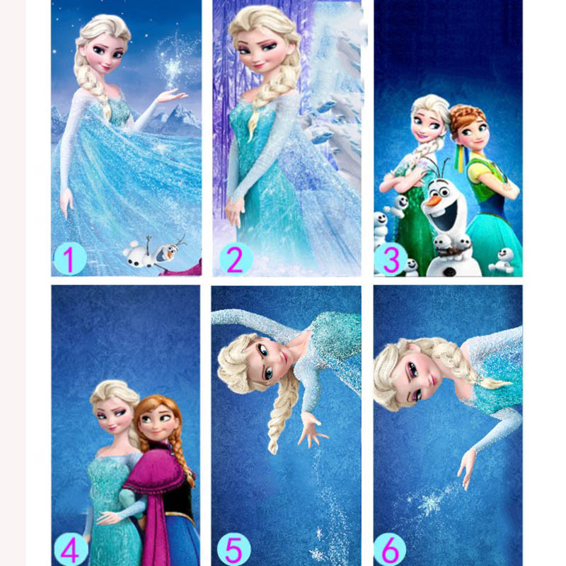 70*140 Cm Frozen Thin Elsa And Anna Play Mats  Disney Children Cartoon Bath Beach Towel  For Kids Gift