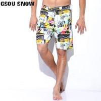 GSOU SNOW Man Beach Board Shorts Quick Dry Swimwear Trunks Print Summer Bermudas Swimming Surfing Diving Motorboat Shorts