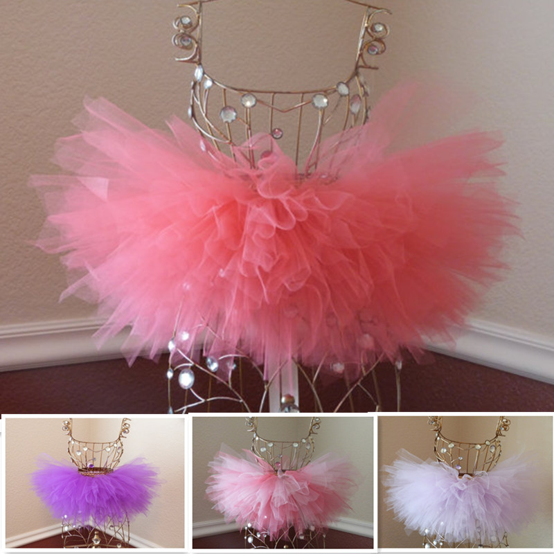 все цены на Cute Fluffy baby first birthday tutu skirt part girls dance costume skirt party wear Tutu Girls