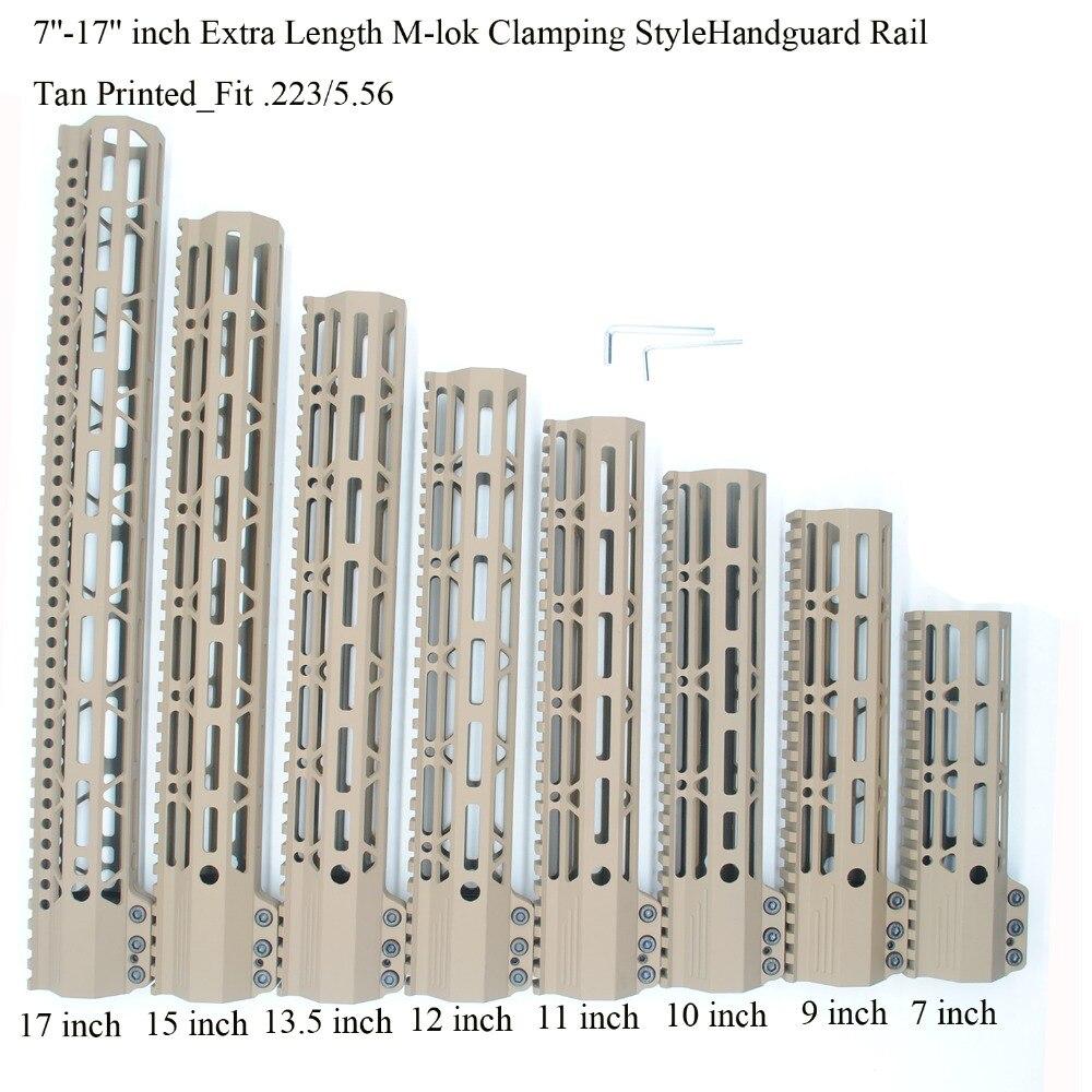 TriRock 7 9 10 11 12 13 5 15 17 inch Clamping Style M lok Handguard