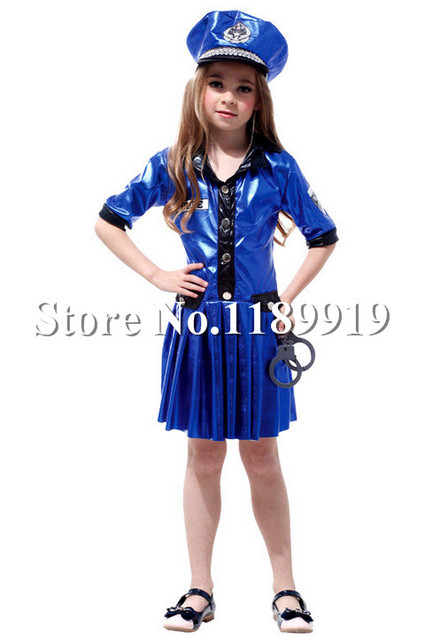 CHILD POLICE OFFICER KIDS PARTY FUN HALLOWEEN GIRLS COSTUME  sc 1 st  AliExpress.com & CHILD POLICE OFFICER KIDS PARTY FUN HALLOWEEN GIRLS COSTUME-in Sexy ...