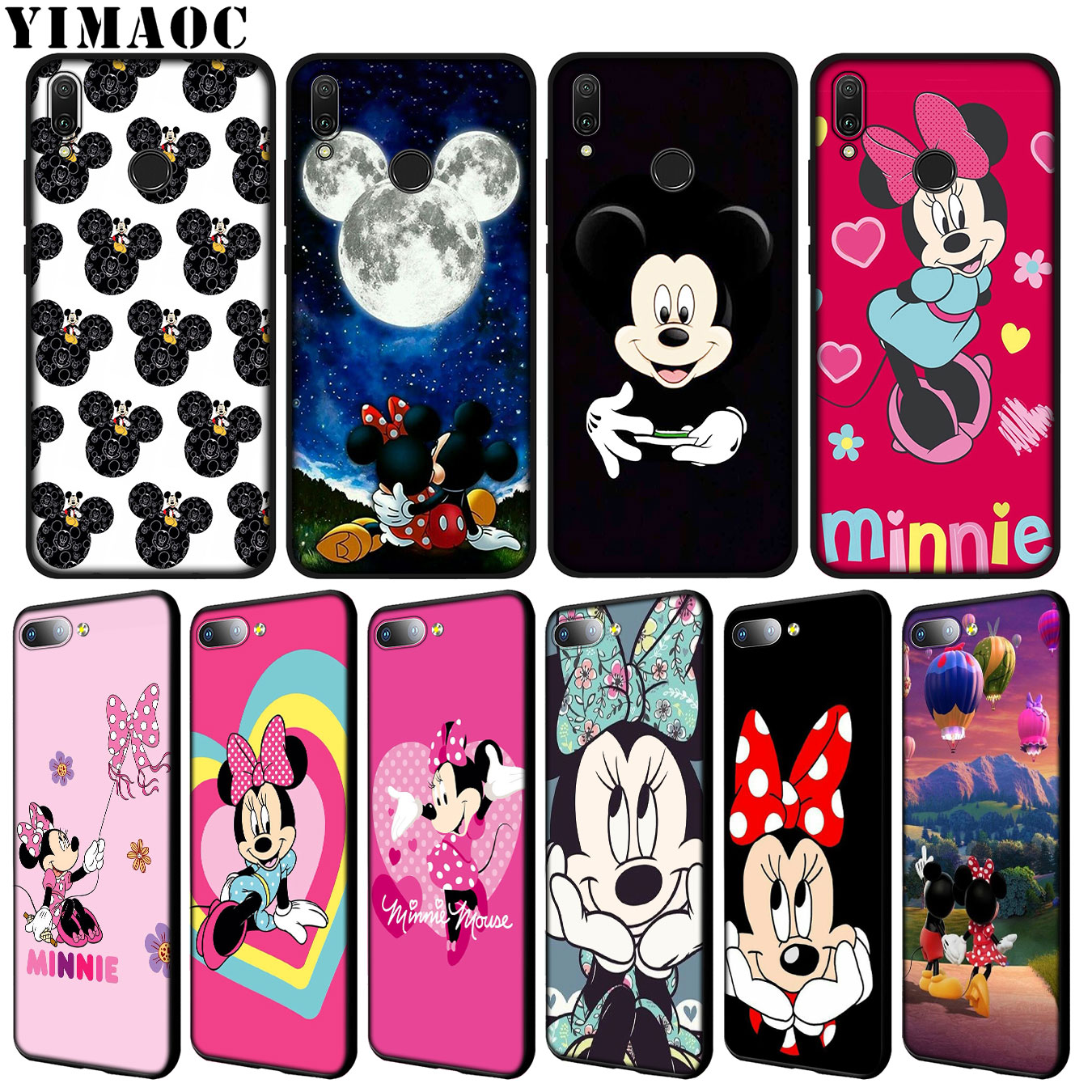 YIMAOC mickey minnie cute mouse Soft Case for Huawei Y9 Y7 Y6 Prime 2019 <font><b>Honor</b></font> 20 8C 8X 8 <font><b>9</b></font> 9X 10 <font><b>Lite</b></font> 7C 7X 7A Pro Cover image