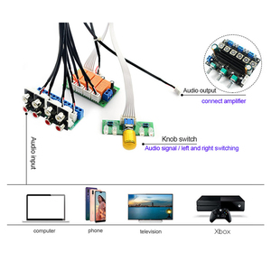 Image 4 - Lusya röle 4 yönlü ses giriş sinyali seçici anahtarlama RCA ses anahtarı giriş seçimi bitmiş kurulu B9 002