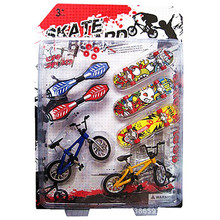 7PCS/Set Mini Fingerboard Finger Skateboard and Bike Toys for Children kids Skate Boards Scooter FSB fun Novelty Bicycle Gift(China)