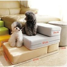 67*39*10 см воздухопроницаемая сетка складная лестница для домашних животных 2 ступени лестница для маленьких собак лежак для питомца подушка коврик Съемная лестница для собак CW016