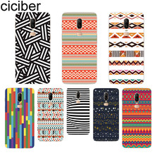 ciciber Phone Case For Oneplus 7 Pro 6 5 T Soft TPU Back Cover Clear Coque for 1+7 Pro 1+ 6 1+5 T Fundas Shell Stripe pattern