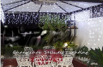 GREAT!White holiday lighting courtyard clothing shop stairs decoration LED star lamp H006(7)