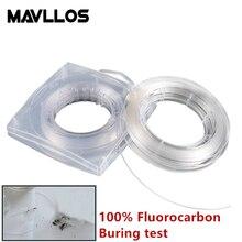 Mavllos 12# 14# 16# Monofilament True Fluorocarbon Fishing Line Leader 50m Carbon Fiber Sink line