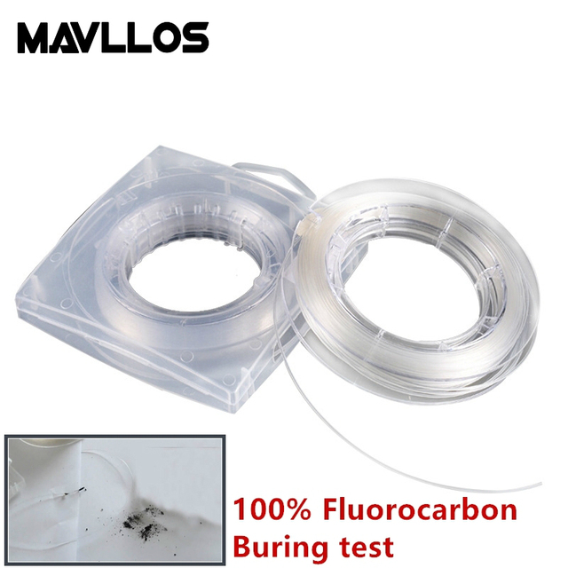 mavllos 12 14 16 monofilament true fluorocarbon fishing line