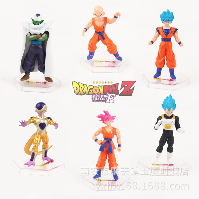 NEW hot 6pcs/set 12cm dragonball <font><b>dragon</b></font> <font><b>ball</b></font> Z <font><b>Resurrection</b></font> F <font><b>Super</b></font> <font><b>Saiyan</b></font> Son Goku Kakarotto Frieza Vegeta action figure toys