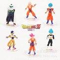 Nueva caliente 6 unids/set 12 cm dragon ball dragon ball Z resurrección F Super Saiyan Goku Kakarotto freezer Vegeta figura de acción juguetes