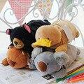 Nova Vindo Bonito Mochilas De Pelúcia caixa de lápis de Pato Brinquedos de Pelúcia Urso de Koala animais Escola Estudantes presente Transporte Rápido