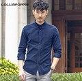100% algodão camisa dos homens de veludo vintage casual masculino camisas novo 2017 Virada Para Baixo Colarinho Botão Para Baixo Mens Primavera & Outono camisas