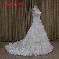 2017 Charming Vestidos De Novia A Line Lace Vintage Wedding Dresses Lace Up Back Sweetheart Bridal