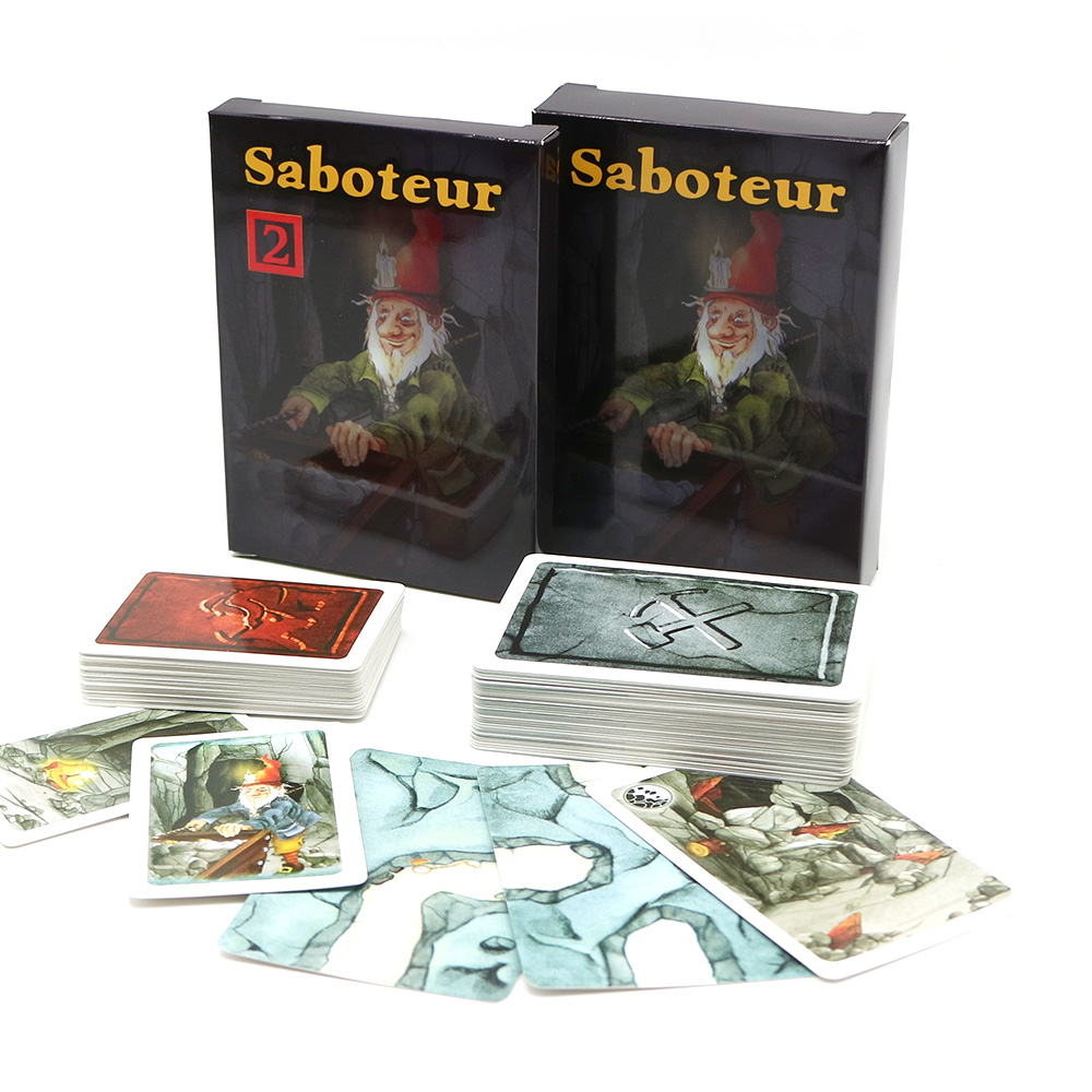 Full English Saboteur 1+2 Board Games Base+extension Dwarf Miner Jeu De Funny Family Party Card Game
