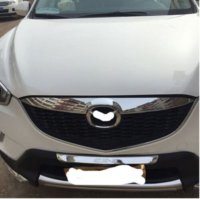 for Mazda CX5  2012-2013 ABS Chrome Front Grille Covers & Rear Trunk Covers Trim Automobile Car Styling Stickers Accessories stainless steel car racing grills for mazda cx 5 2013 2016 front grill grille cover trim car styling