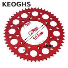 Keoghs High Quality Dirt Bike Chain Sprocket 7075 Cnc Aluminum 49t/52t/53t Light Weight For Honda Kawasaki Ktm Motocross Modify