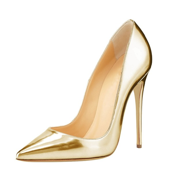 Big Sale Sexy Pointed Toe High Heel Pumps Patente Leather Thin Heels Woman Shoe 2