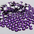 400 pcs 2mm - 6mm Mix Size Dark Purple Violet Resin Acrylic Round Rhinestone Crystal Rhinestones Nail Art Decoration N15