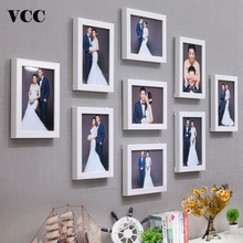 9 Pcs Classic Photo Frame For Wall Hanging Home Decor 8 Inch Wedding Couple Recommendation Black White Pictures Frames Gift