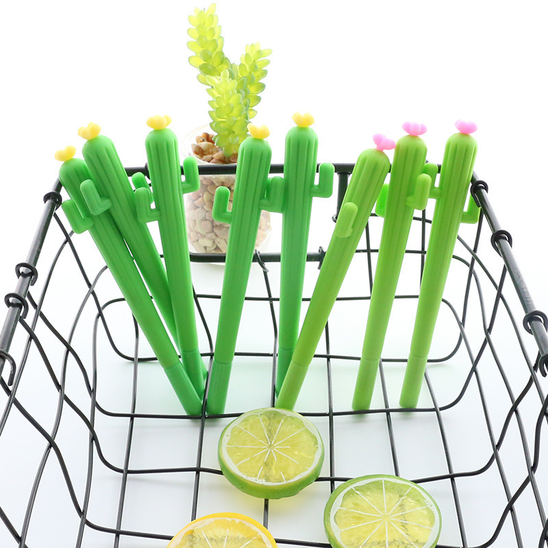 1 PCS New Cute Cactus Shape Gel Pens Student Stationery Escolar Novelty Gift School Material Office Supplies