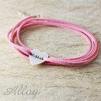 Custom Fashion Alloy Heart Bracelet Colorful Stack Chain Lover Bracelet Hand Stamp