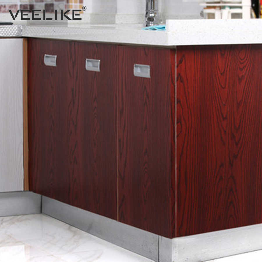 Extra Thick Diy Vinyl Film Pvc Self Adhesive Wallpaper For Kitchen Cabinets Decor Door Table Waterproof Self Adhesive Wallpaper