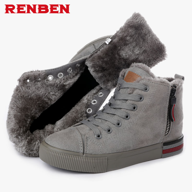 Women Winter Boots Suede Warm Platform Snow Ankle Boots Women Casual Shoes Round Toe Female Botas Mujer sgesvier warm snow boots ankle boots high heel wedge boots retro round toe slip on casual shoes winter shoes for women ox148