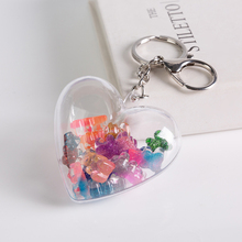 1PC resin gummy bear stereoscopic keychain resin charms resin keyring for woman jewelry