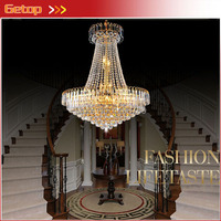 Free Shipping Royal Empire Golden Crystal Chandelier Light Crystal Ceiling Pendant Lights Ceiling Lamp