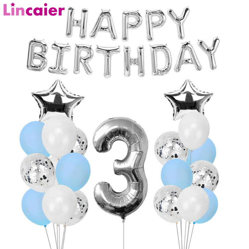 3 Years Happy Birthday Balloons Party Decorations 3rd I Am
