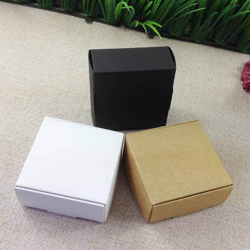 65X65X30  Kraft Soap BOX  Bake Cake Packing Wedding Favour   Box Necklace BOX BOXEarring /Necklace /Ring /Jewelry Set