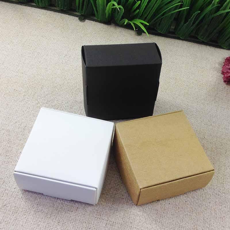 65X65X30  Kraft Soap BOX  Bake Cake Packing Wedding Favour   Box Necklace BOX BOXEarring /Necklace /Ring /Jewelry Set