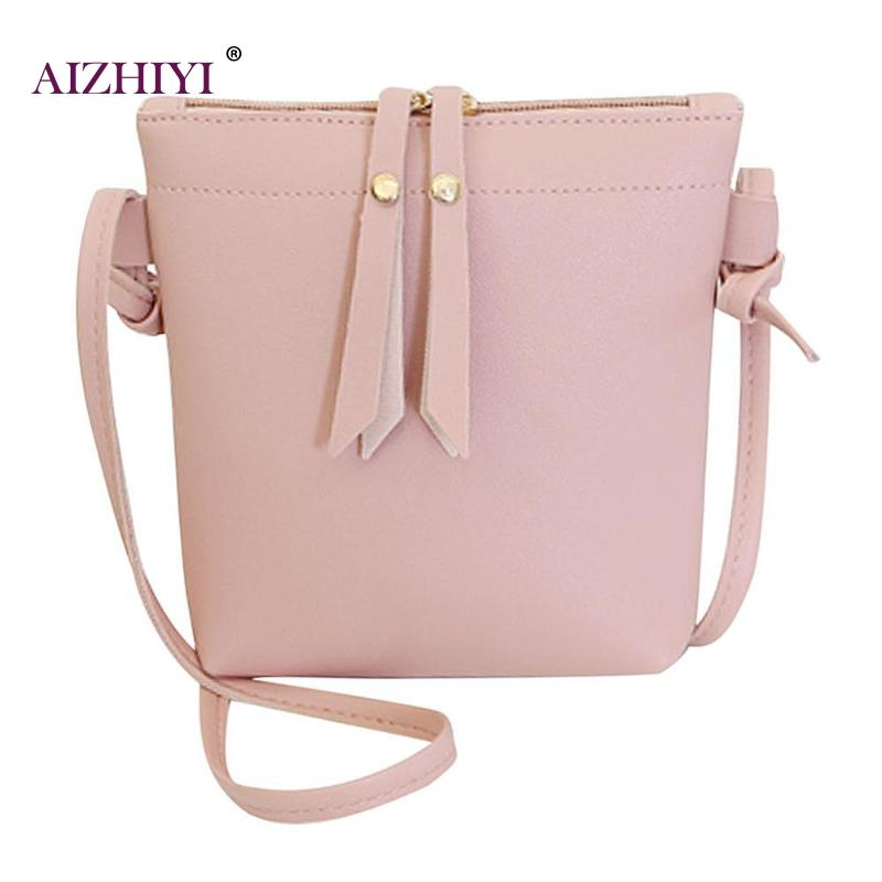 Women PU Leather Small Messenger Bags Female Portable Pure Casual Zipper Shoulder Handbags Daily Use Shopping Bag for Girls New