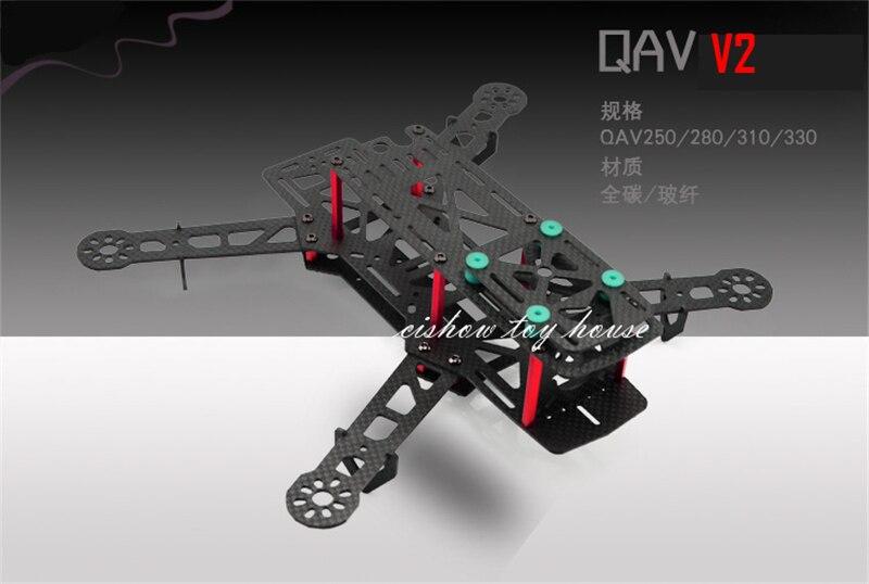 DIY drone FPV H330 QAV330 V2 Glass Fiber Mini 330 FPV Quadcopter Multicopter Frame UAV CC3D Controller Compatible newest diy mini drone jjrc jjpro t2 85mm fpv racing drone arf with 5 8g 40ch 800tvl naze32 brushed fc md8520 motor multicopter