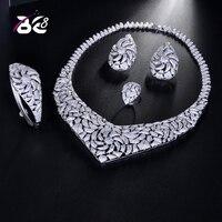 Be 8 2018 AAA CZ African Jewelry Set Dubai Jewelry Sets for Women Round Wedding Jewellery Set Bridal Costume Jewelery S176