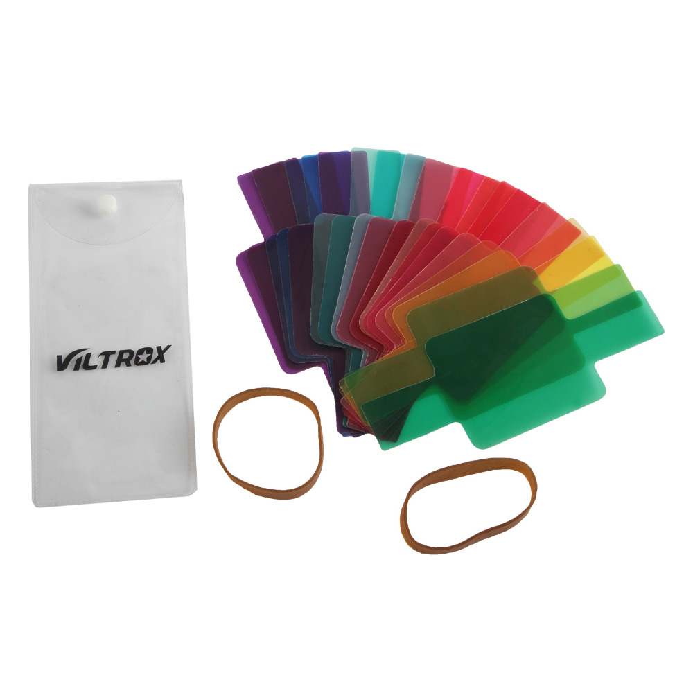 Viltrox 20PCS Color Photographic Color Gels Filter Card Lighting Diffuser for Canon Nikon Yongnuo Flash Nissin Speedlite вспышка nissin di 600 for canon