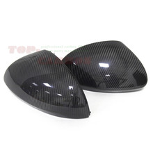 1:1 Replacement for Volkswagen VW Tiguan Sharan Carbon Fiber Rear View Mirror Cover 2008 2009 2010 2011 2012 2013 2014 2015