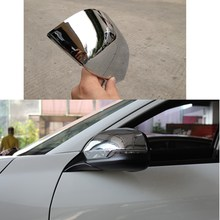 for Honda VEZEL 2015 2014 2016 2pcs lot ABS chrome styling car rear mirror accessori