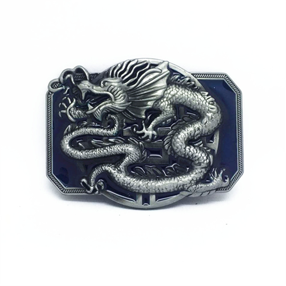 China's Western Cowboy Chinese Dragon Zinc Alloy Belt Buckle Is 4.0