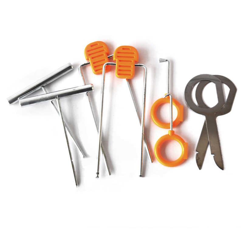 12 шт./компл., набор, автомобильные инструменты для демонтажа, инструменты для машинный dvd проигрыватель для ремонта стерео аппаратуры внутренней Пластик отделка Панель приборной панели Установка для удаления