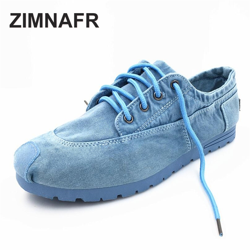 ZIMNAFR BRAND 2017 AUTUMN NEW MEN CASUAL SHOES FASHION CANVAS FLATS LACE UP