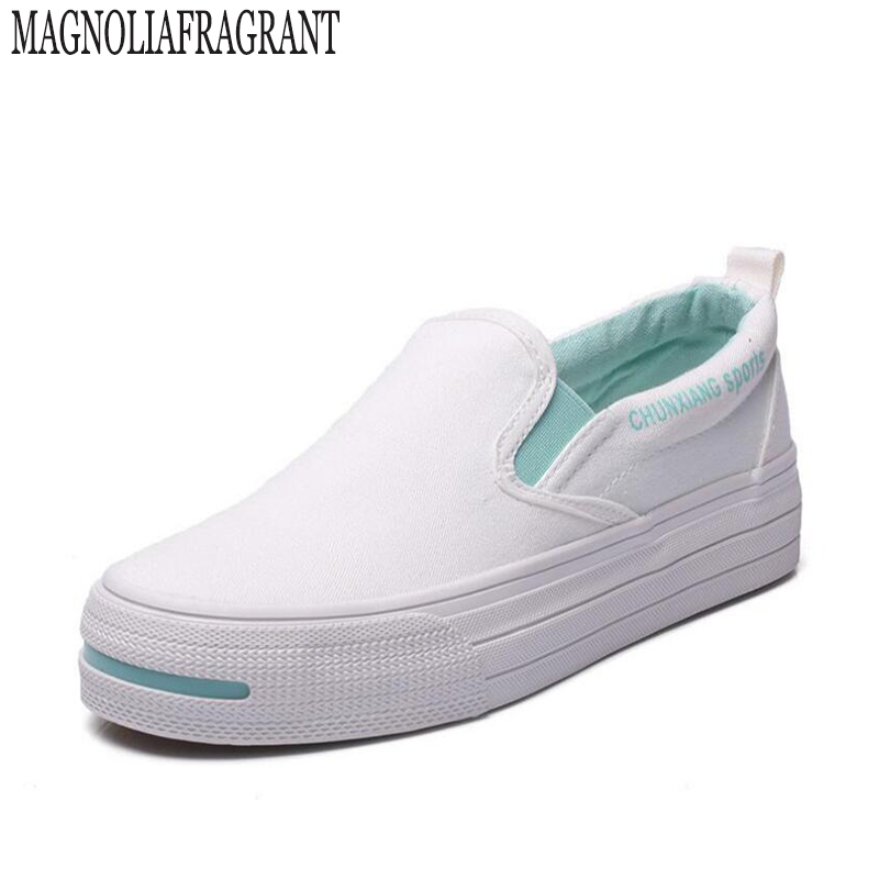 High quality muffin heavy-bottomed shallow mouth of canvas shoes women shoes casual shoes a pedal student flat bottom shoes a153 minika breathable mesh lace shoes women thick bottom shallow mouth women casual shoes slip on flat shoes women high quality