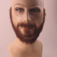 FXVIC человек Ложные усы, невидимые Ложные усы и полная борода для костюма. Поддельные Усы