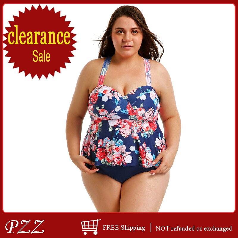 dd45435e765 Women Swimwear Plus Size Halter Swimsuit Two Piece Tankini With Shorts Swim  Dress Bathing Suits Cover