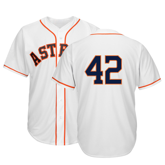 timeless design f52cd e0c11 VZ VARE ZANE Official American Baseball Astros 42 Jackie Robinson Cool Base  Jerseys-in T-Shirts from Men's Clothing & Accessories on Aliexpress.com |  ...
